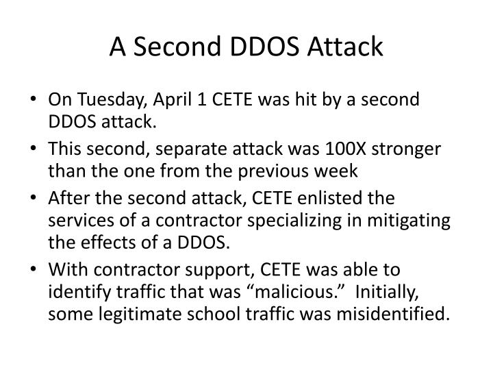 A second ddos attack