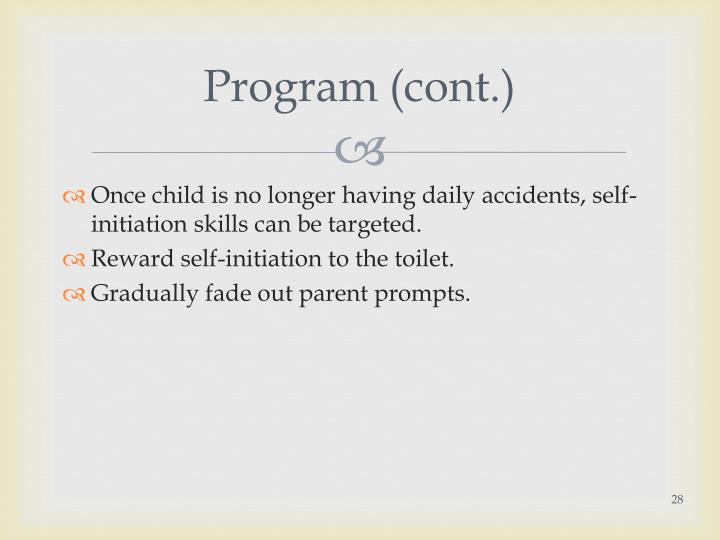 Program (cont.)