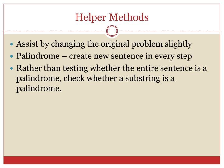 Helper Methods