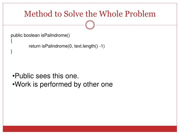 Method to Solve the Whole Problem