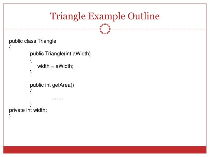 Triangle Example Outline