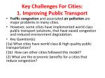 key challenges for cities 1 improving public transport