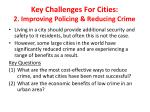 key challenges for cities 2 improving policing reducing crime