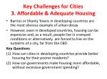 key challenges for cities 3 affordable adequate housing