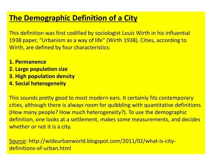 The Demographic