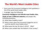 the world s most livable cities