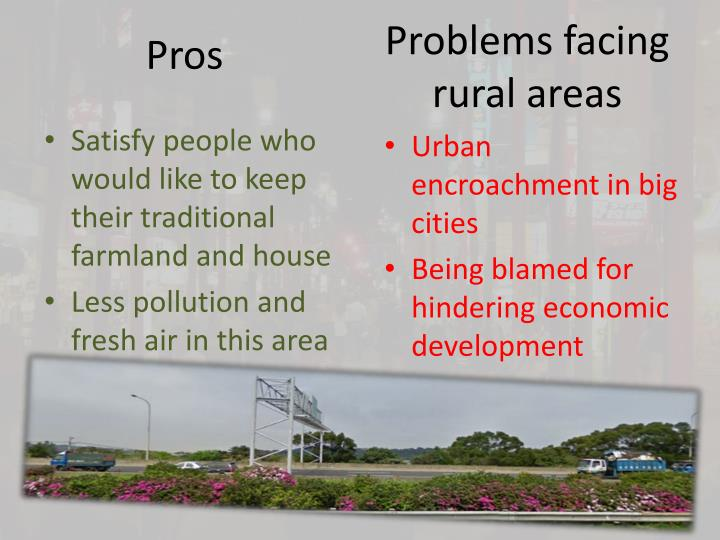 Problems facing rural areas