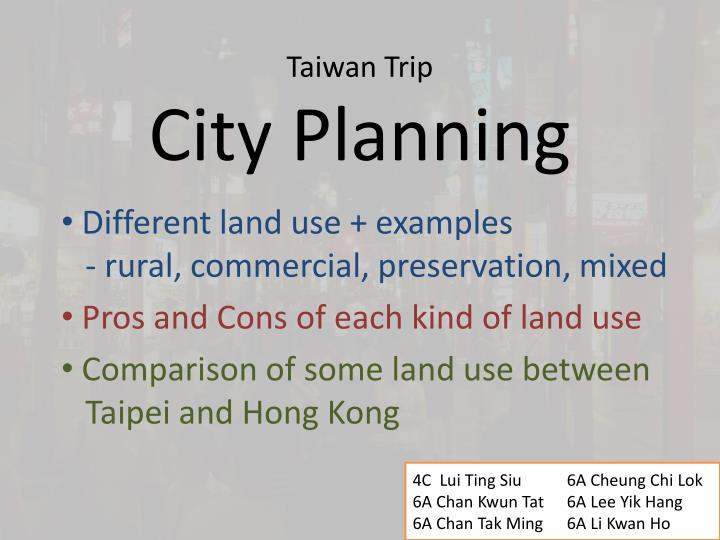 Taiwan trip city planning
