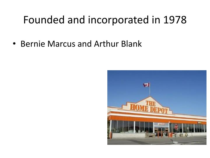 Founded and incorporated in 1978