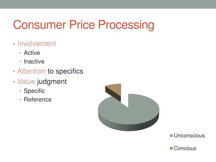Consumer Price Processing