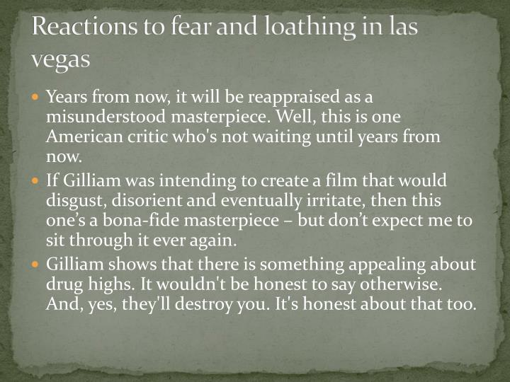 Reactions to fear and loathing in las vegas