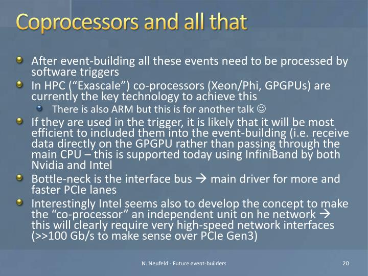 Coprocessors and all that