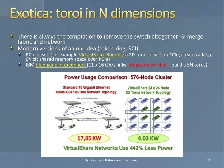Exotica: toroi in N dimensions