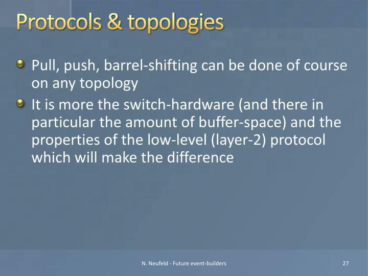 Protocols & topologies