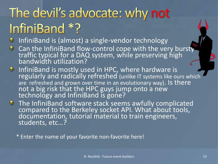 The devil's advocate: why