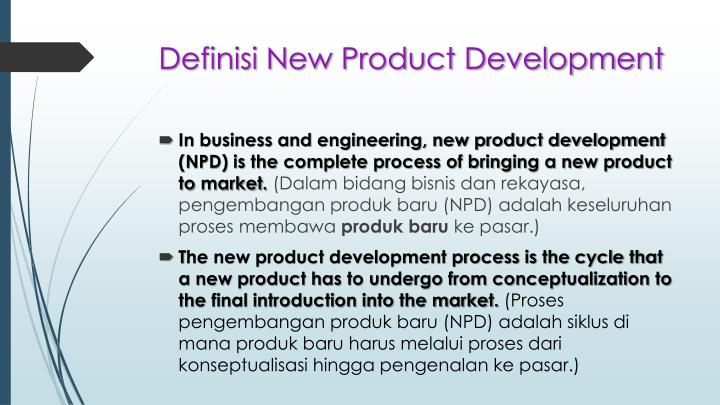 Definisi New Product Development