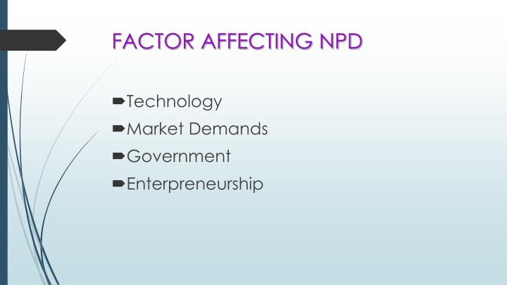 Factor affecting npd