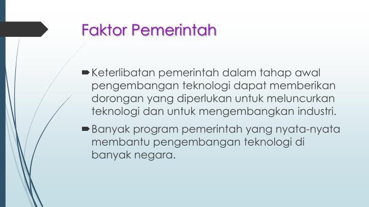 Faktor Pemerintah