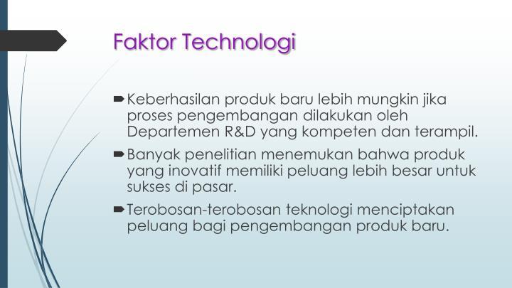 Faktor Technologi