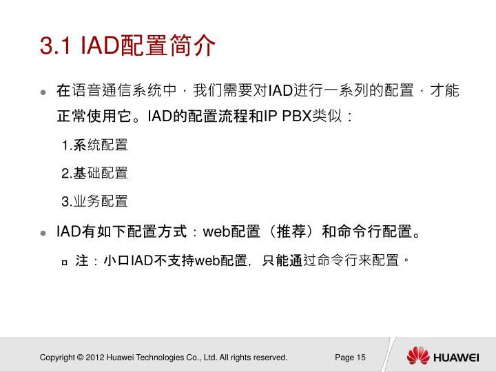 3.1 IAD