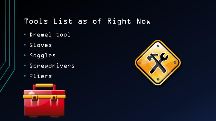 Tools List as of Right