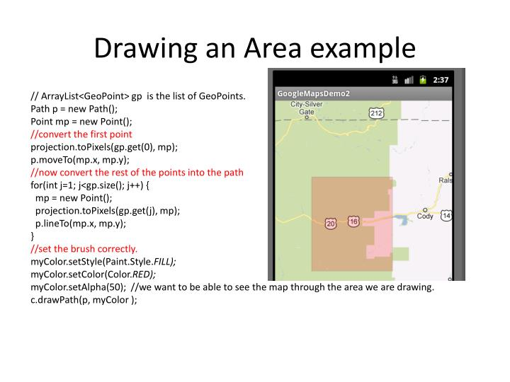 Drawing an Area example