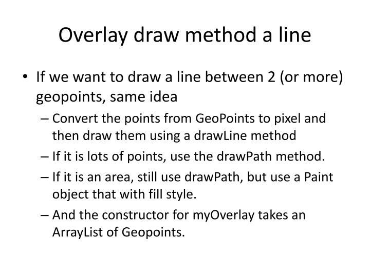 Overlay draw method