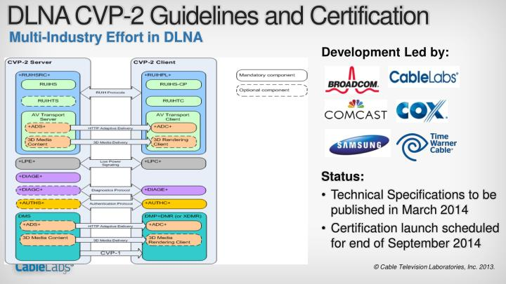 DLNA CVP-2 Guidelines and Certification