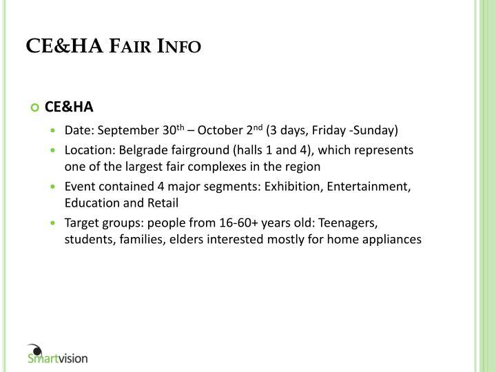 CE&HA Fair Info