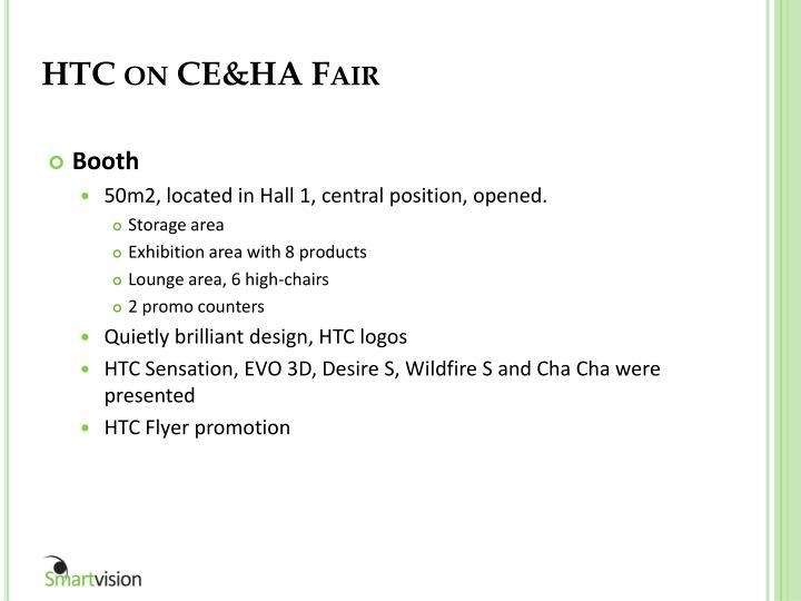 HTC on CE&HA Fair