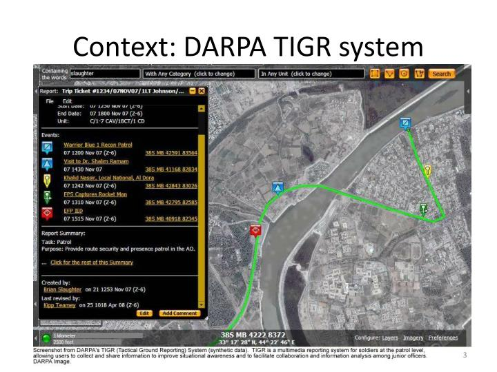 Context: DARPA TIGR system