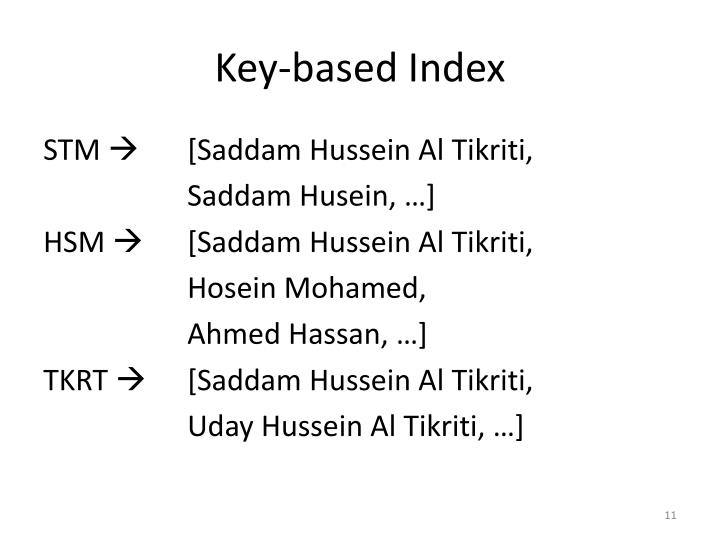 Key-based Index