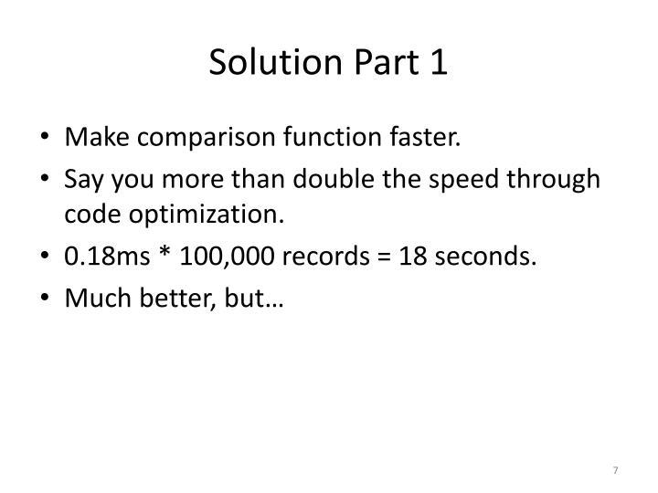 Solution Part 1