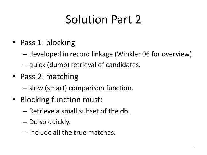 Solution Part 2