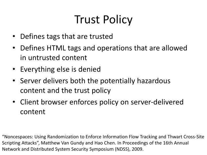 Trust Policy