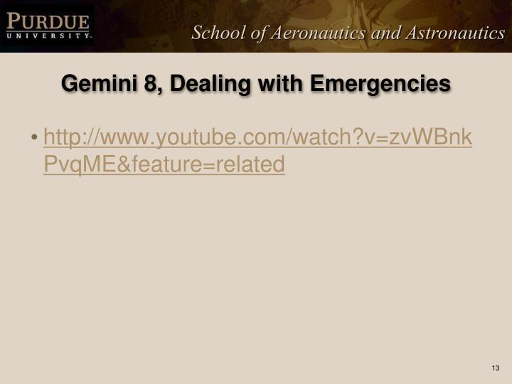 Gemini 8, Dealing with Emergencies