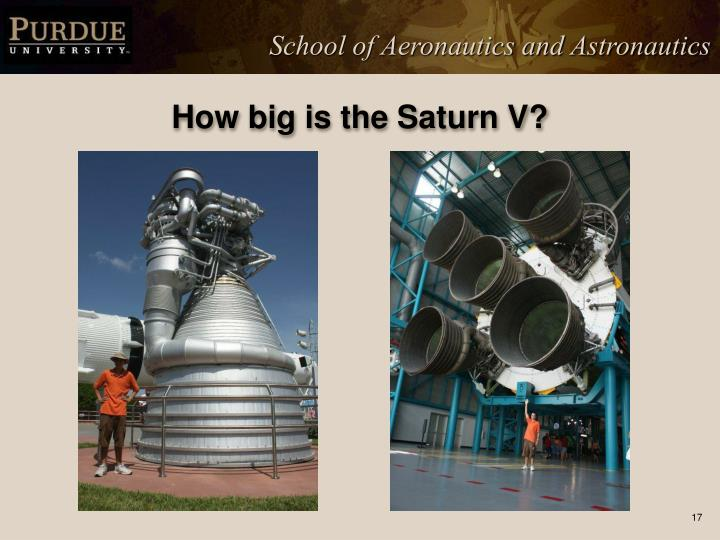 How big is the Saturn V?