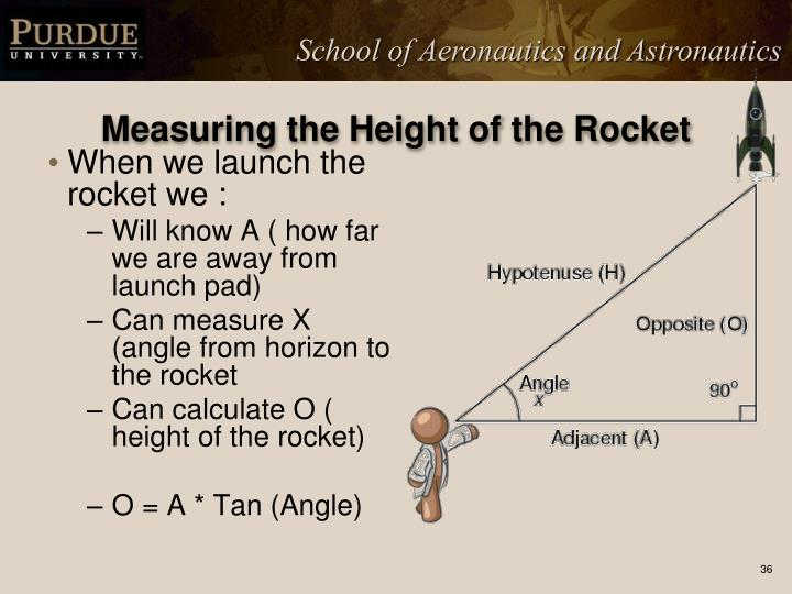 Measuring the Height of the Rocket
