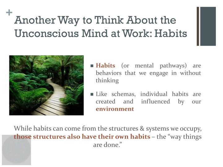 Another Way to Think About the Unconscious Mind at Work: Habits