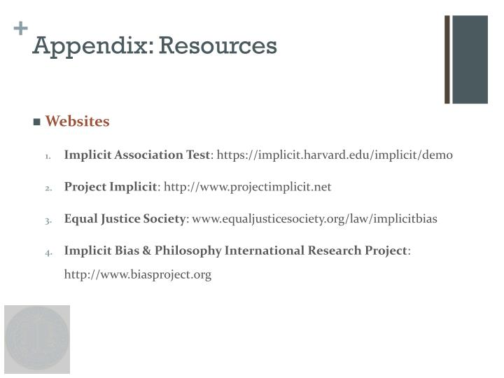 Appendix: Resources