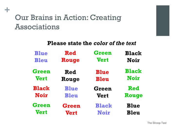 Our Brains in Action: Creating Associations