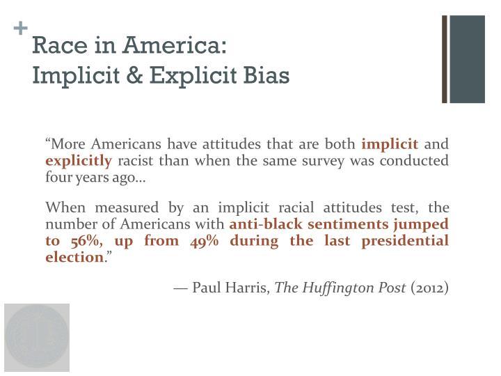 Race in America: