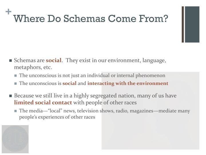 Where Do Schemas Come From?