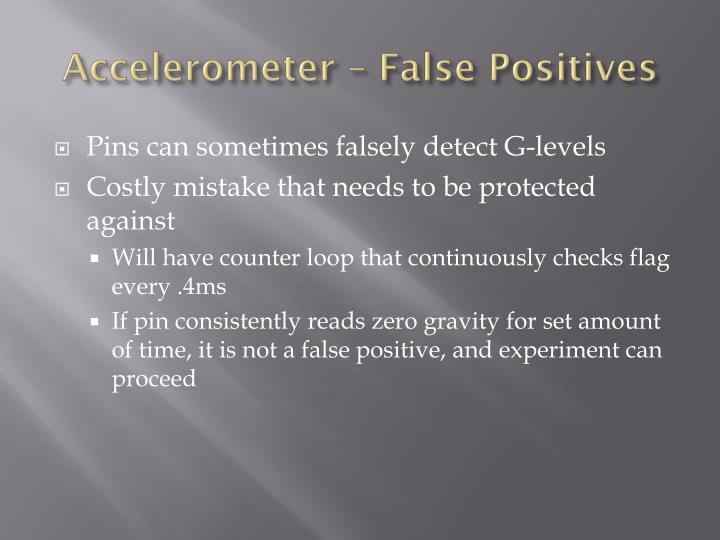 Accelerometer – False Positives