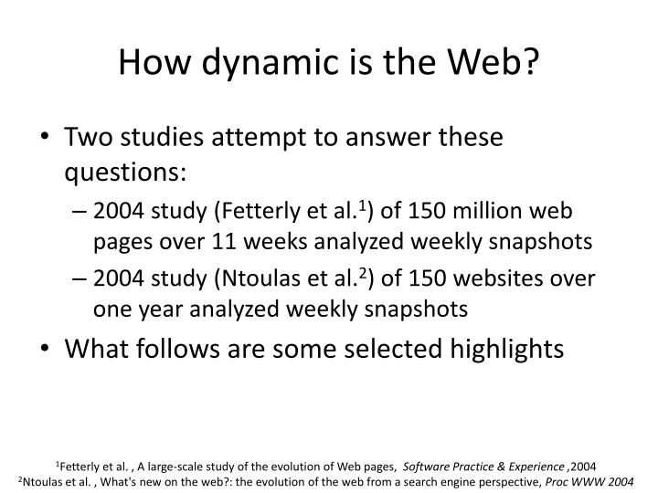 How dynamic is the Web?
