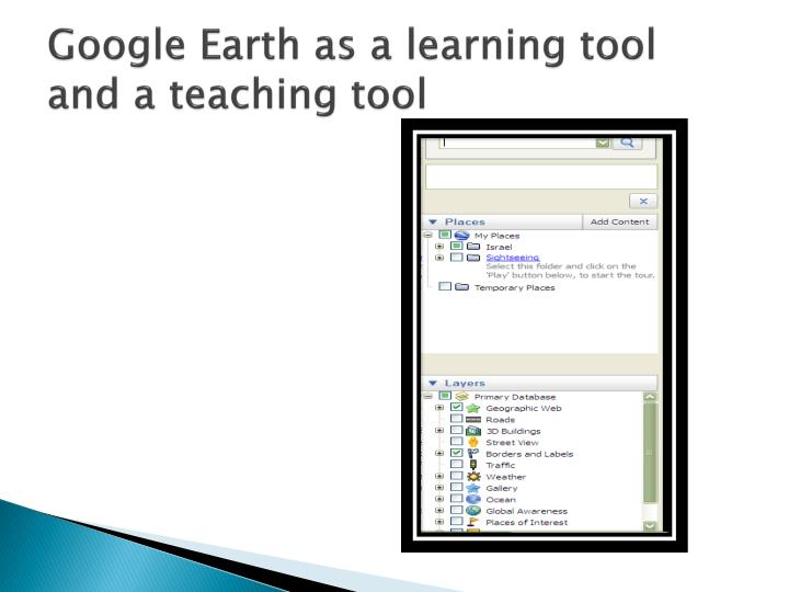 Google Earth as a learning tool