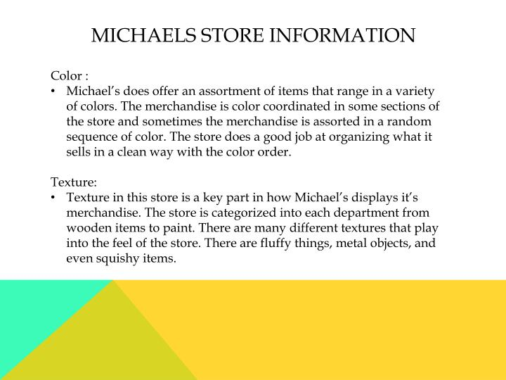 Michaels store information