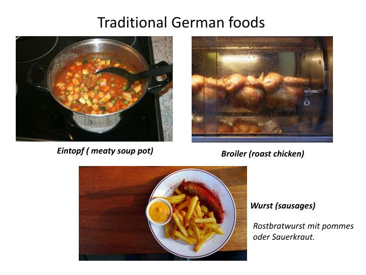 Traditional German foods