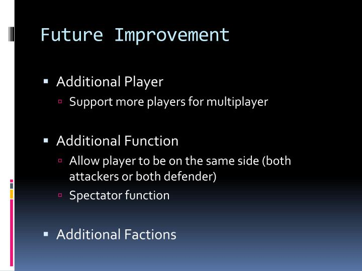 Future Improvement