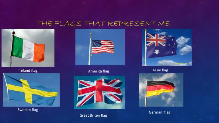 The flags that represent me